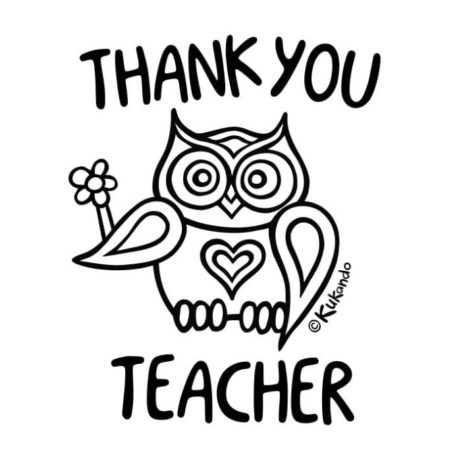 Teacher Appreciation Printable Coloring Pages Kukando Art & Craft